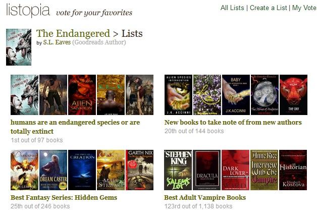Goodreads Listopia